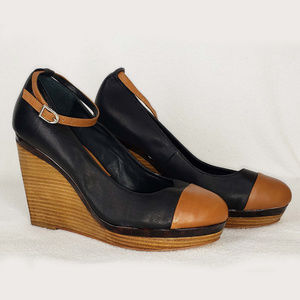 Black House White Market  leather wedge patform